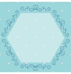 Blue vintage monogram vector image vector image