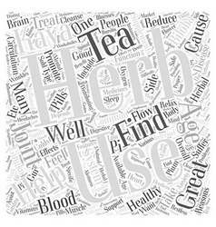 Herbs Helping with Healthy Aging Word Cloud vector image