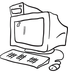 simple black and white computer vector image
