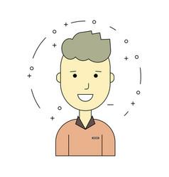 smiling guy character minimalism cartoon flat vector image vector image
