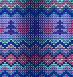 waves pattern geometric seamless knitted backgrou vector image