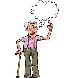 grandpa says vector image vector image