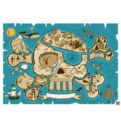 treasure map vector image vector image