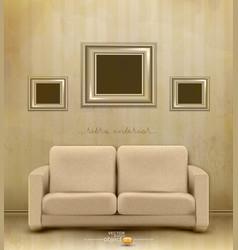 vintage retro interior vector image vector image
