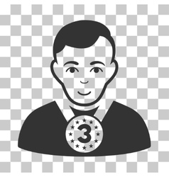 3rd Prizer Sportsman Icon vector image