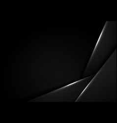 Abstract black design tech overlap artwork vector