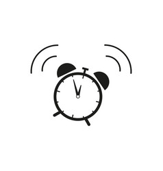 alarm clock icon wake up of time vector image