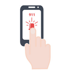ambulance police alarm emergency call 911 vector image