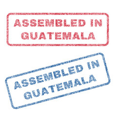 assembled in guatemala textile stamps vector image