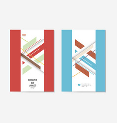 brochures template with abstract design lines vector image