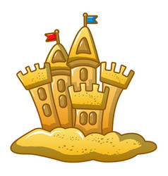 Built castle icon cartoon style vector