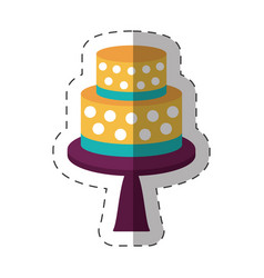 cake dessert decorative shadow vector image