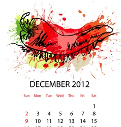 calendar with vegetables for 2012 vector image