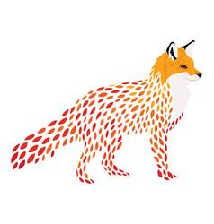 cartoon fox stylized fox vector image