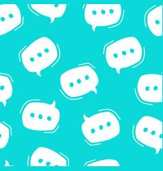 chat bubble pattern seamless pattern white vector image