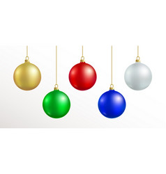 Christmas decoration red blue silver gold vector