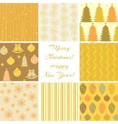 Christmas patterns collection 3 vector image