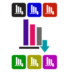 color bar graph icon vector image