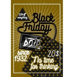 Color vintage black friday sale poster vector