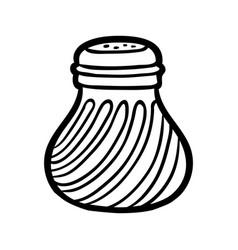 Coloring book salt shaker vector