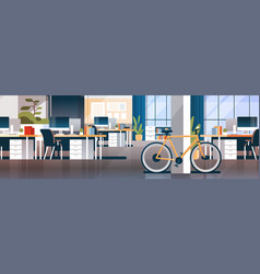 Creative office coworking center room interior vector