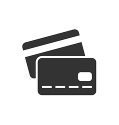 Credit card black icon vector