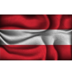 Crumpled flag of Austria vector