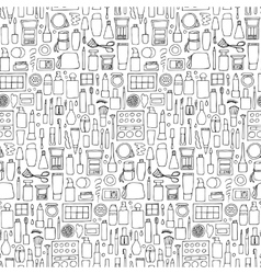 Decorative cosmetics doodle seamless pattern vector