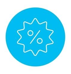Discount tag line icon vector