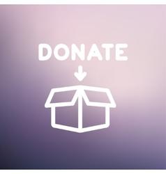 Donation box thin line icon vector image