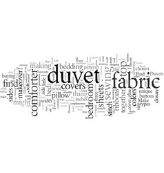 Duvet covers for a quick bedroom makeover vector