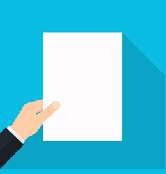 empty white paper list in the hands vector image