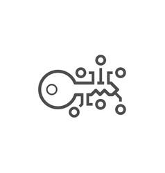 Encryption key icon vector