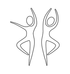 figure people dancing together icon vector image