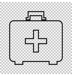 First aid box line icon vector