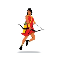 Girl Archer Cartoon vector image