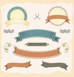 grunge banners and ribbons set vector image