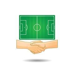 Hand shake vector