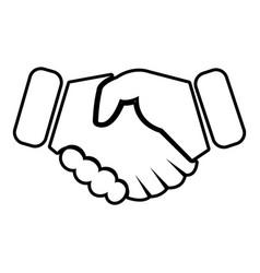 Handshake ice hockey icon outline style vector
