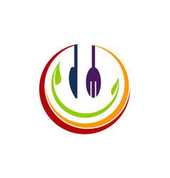 Health food restaurant vector