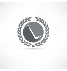 hockey stick icon vector image