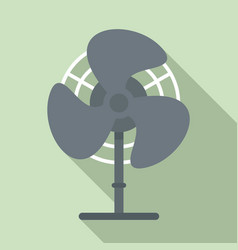 home fan icon flat style vector image