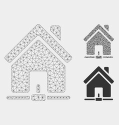 home internet connection mesh wire frame vector image