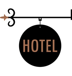 Hotel vintage old sign vector image