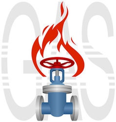 Icon gas industry vector image vector image