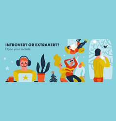 Introvert or extravert header vector