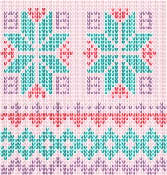 Knitted background Scandinavian style vector