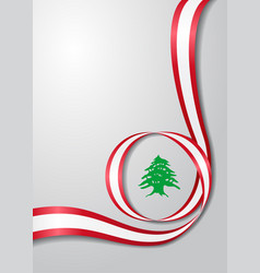 Lebanese flag wavy background vector