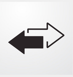 Left right arrows sign icon flat design st vector