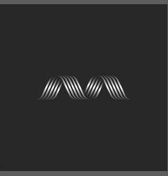 Letter m logo initial creative monogram metal vector